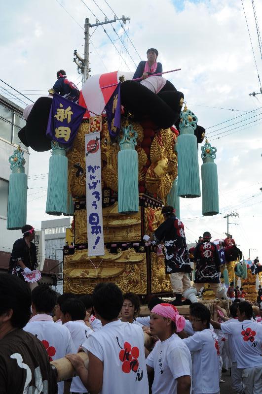 新居浜夏祭り 昭和通り 新田太鼓台