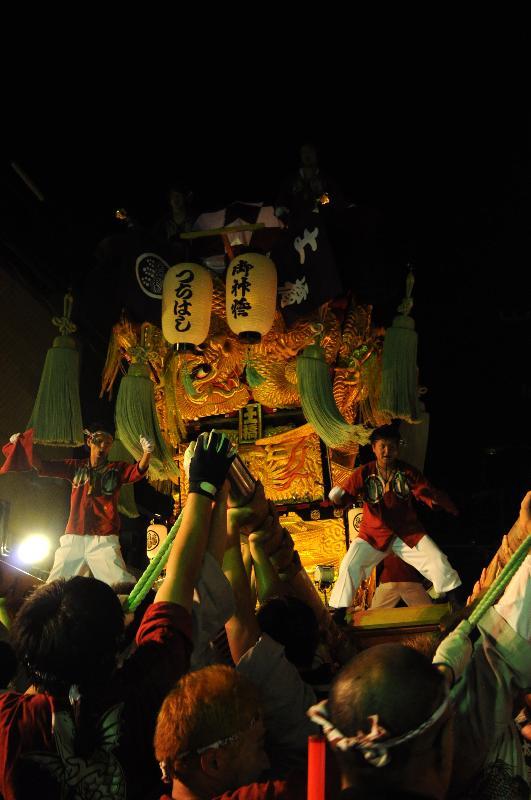 新居浜夏祭り 昭和通 土橋太鼓台
