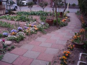 2011042220114月の前庭の様子1