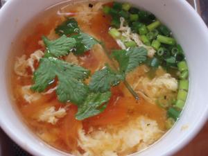 20110507トマトと卵のスープ