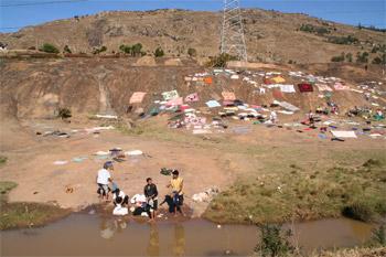 マダガスカルの洗濯