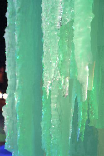 エメラルドの氷柱
