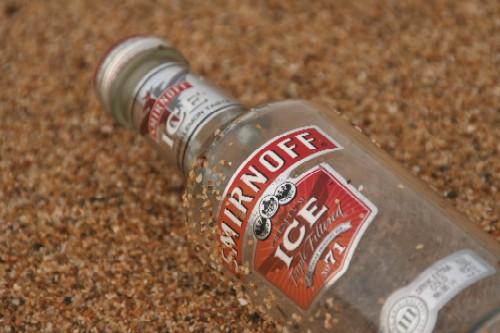 浜辺のボトル