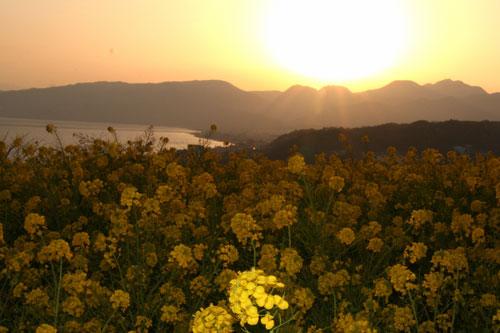 吾妻山の夕暮れ
