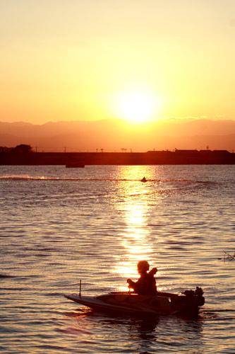 利根川の夕暮れ