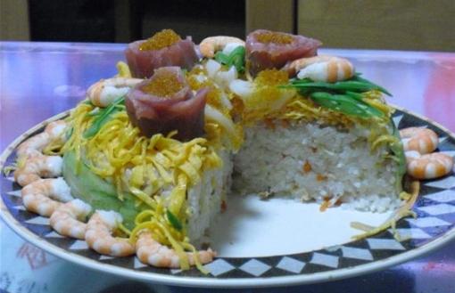 寿司ケーキ①