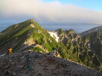 854早朝はしっかり展望がありました。唐松岳