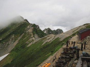 ⑨唐松岳への登山道