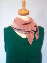 ベルベットスカーフ(ピンク)3