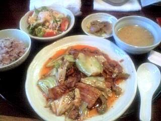 中華料理屋(回鍋肉定食)