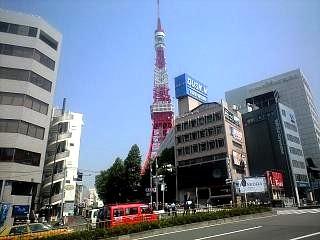 飯倉からの東京タワー