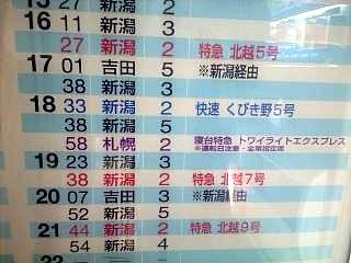 長岡駅(在来線ホームその2)