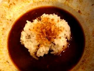 麺バカ息子(限定つけ麺・おにぎり投入)