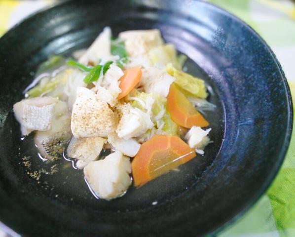 ほたてと白菜の水煮なべ