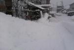 屋根雪の落下