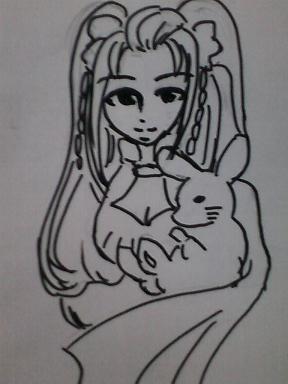 うさぎと仙女