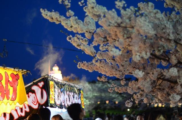 夜桜と屋台DSC_1881