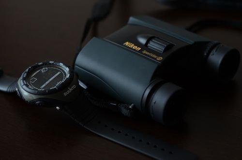 アルチメーターとNikonの双眼鏡20120513