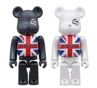 "BE@RBRICK SILAS ""UNION JACK"""