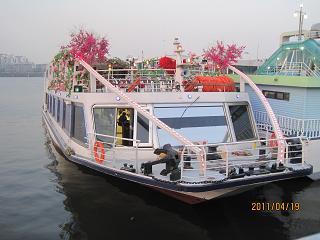 結婚式の船