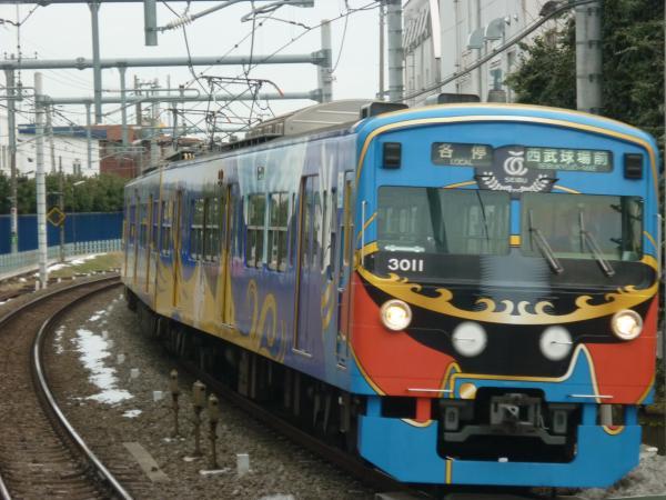 2014-02-11 西武3011F 各停西武球場前行き