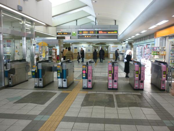 2014-02-16 飯能駅 自動改札機