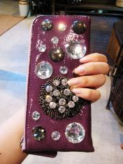 ビジュー財布紫