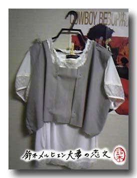 嫁用ジャンパースカート。白い服は市販品。まだ製作途中。
