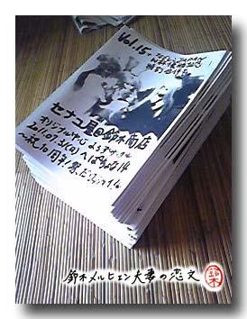2011年7月31日の大牟田こみけペーパー50部。今回はドール写真が表紙です。