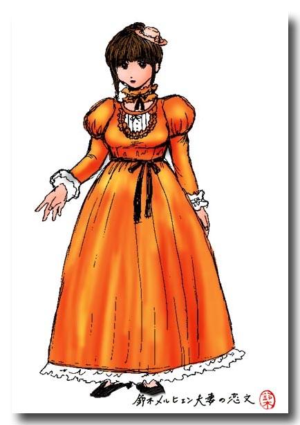 嫁ドレス計画・あくまでも「理想形」のデザイン画。こうなるかといったらそうではない(笑)