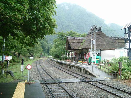 会津鉄道湯野上温泉駅1