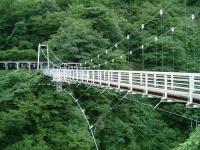 国道112号道の駅月山2吊り橋