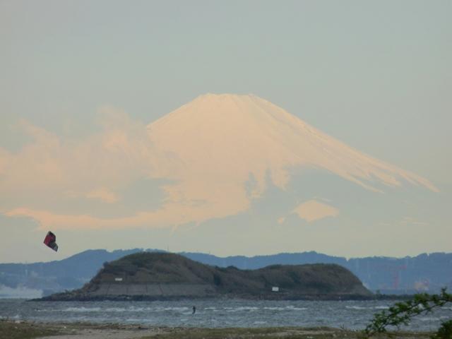 富士山と第一海堡
