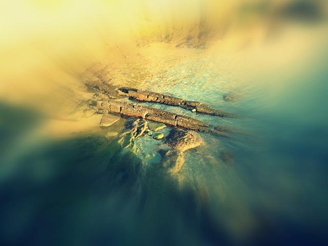 震洋レール跡