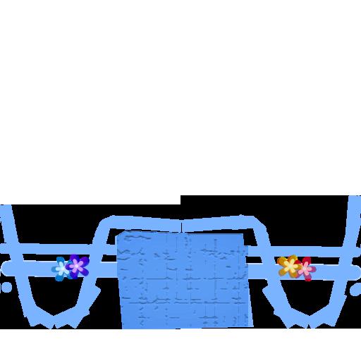 青いサンダル