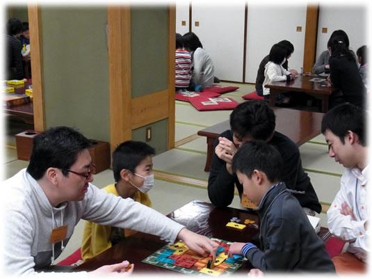 2011年3月親子ゲーム&お寿司会:にぎわい