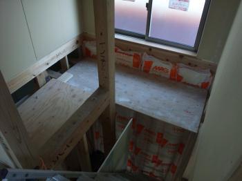 階段の足場