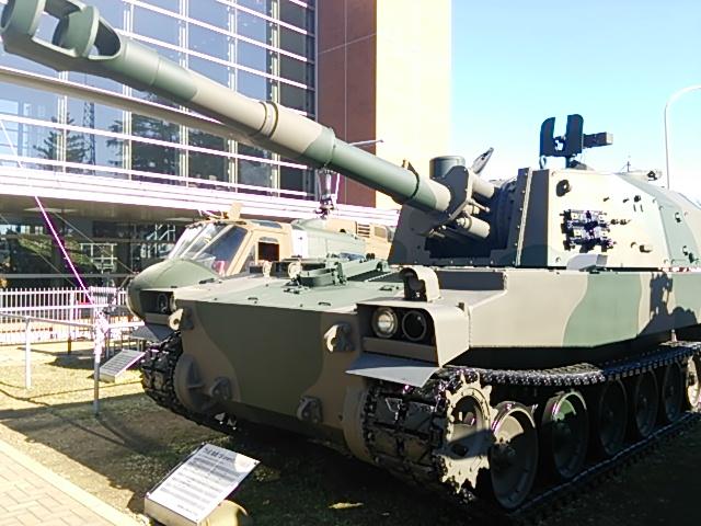 75式自走155mmりゅう弾砲