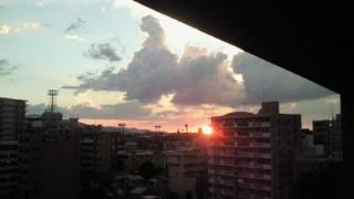 白木原の夕陽