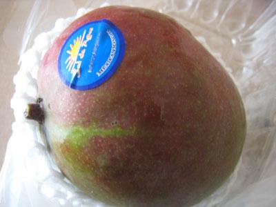 硬いマンゴー