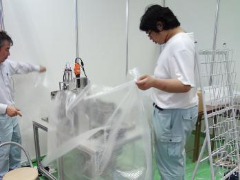 信和技研 / インターフェックス出展記(3) 粉体定量分注装置設置編