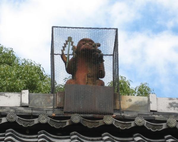 瓦彫の神猿