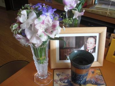 明青さんにいただいたお花