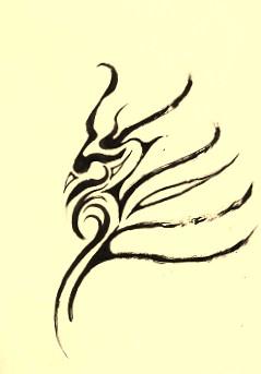 「龍」原画。