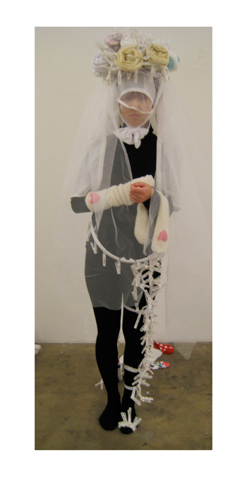 Bride made of socks:all