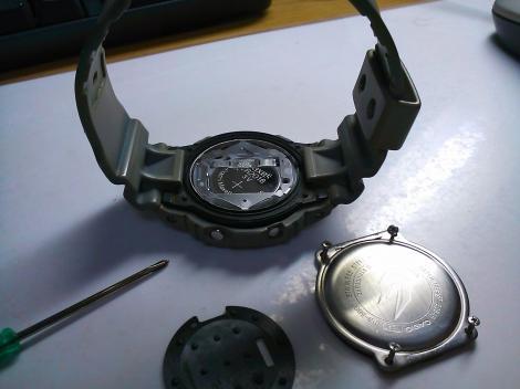 G-shock 電池交換