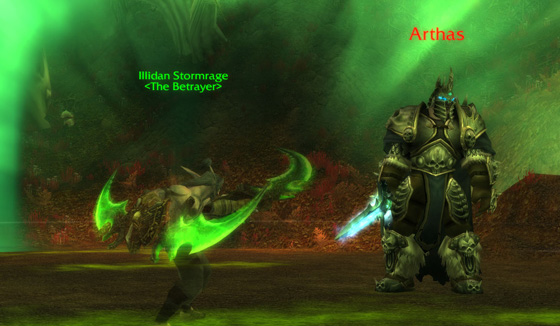 Illidan vs Lichking