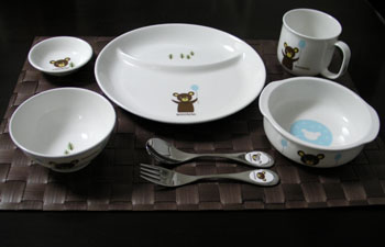 20101113お食い初め 食器