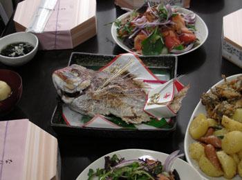 20101113お食い初め 鯛