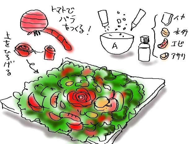 シーフードサラダ&スモークサーモン前菜